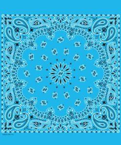 Bandana bleu ciel (bleu clair)