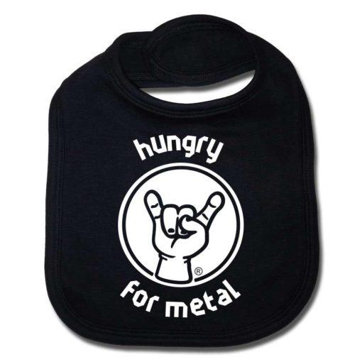 Bavoir bébé noir Hungry for Metal