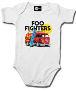 Body bébé Foo Fighters blanc avec un van