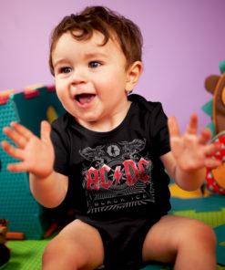Bébé avec un body ACDC black ice noir