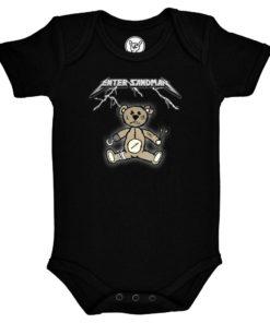 Body bébé Metallica Enter Sandman noir avec un ourson