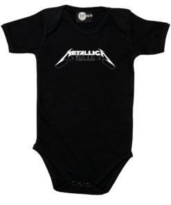 Body bébé Metallica noir avec logo blanc