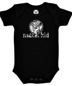 Body rock Metal Kid vintage noir pour bébé