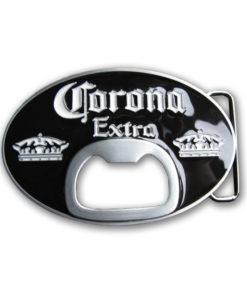 Boucle de ceinture Corona en métal avec décapsuleur intégré