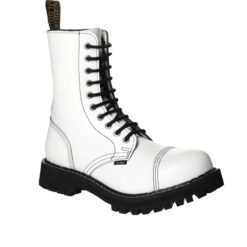 Chaussures coquées blanches 10 trous
