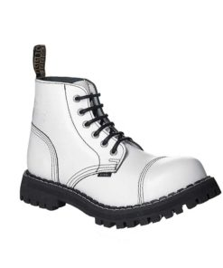 Chaussures coquées blanches 6 trous