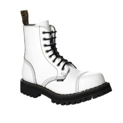 Chaussures coquées blanches 8 trous