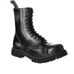 Chaussures coquées blanches noires 10 trous