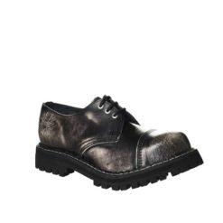 Chaussures coquées blanches noires