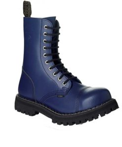 Chaussures coquées bleues 10 trous