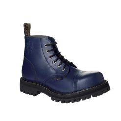 Chaussures coquées bleues 6 trous