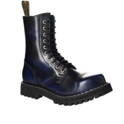 Chaussures coquées bleues noires 10 trous