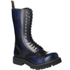 Chaussures coquées bleues noires 15 trous