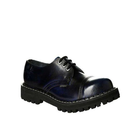 Chaussures coquées bleues noires