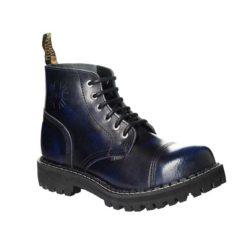 Chaussures coquées bleues noires 6 trous