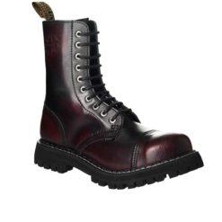 Chaussures coquées bordeaux 10 trous