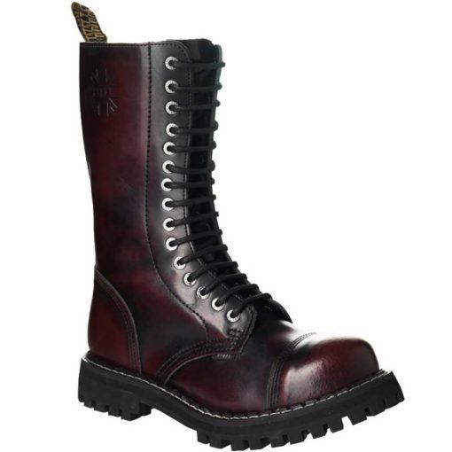 Chaussures coquées bordeaux 15 trous