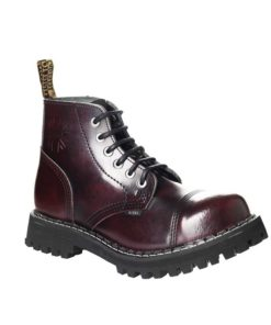 Chaussures coquées bordeaux 6 trous