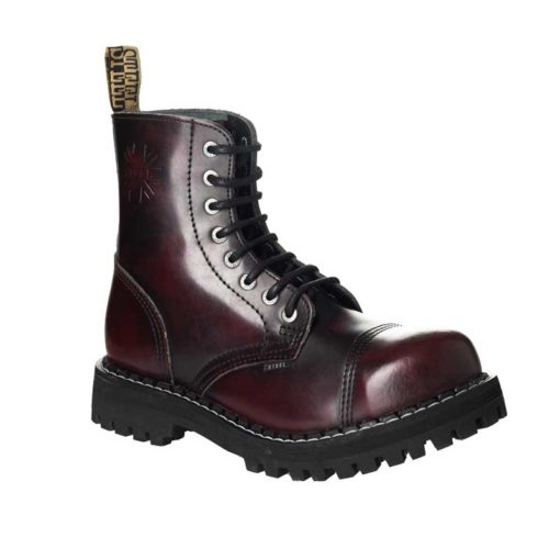 Chaussures coquées bordeaux 8 trous