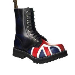 Chaussures coquées drapeau british 10 trous