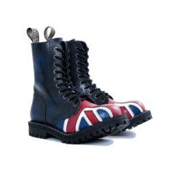 Paire de chaussures coquées drapeau british 10 trous