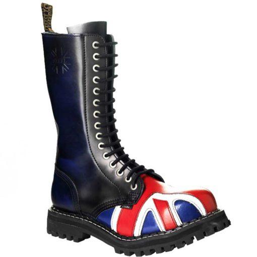 Chaussures coquées drapeau british 15 trous