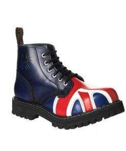 Chaussures coquées drapeau british 6 trous