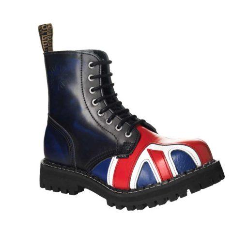 Chaussures coquées drapeau british 8 trous