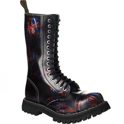Chaussures coquées drapeaux anglais 15 trous
