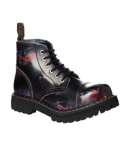 Chaussures coquées drapeaux anglais 6 trous