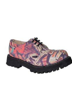 Chaussures coquées roses et violettes