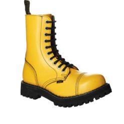 Chaussures coquées jaunes 10 trous