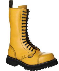 Chaussures coquées jaunes 15 trous