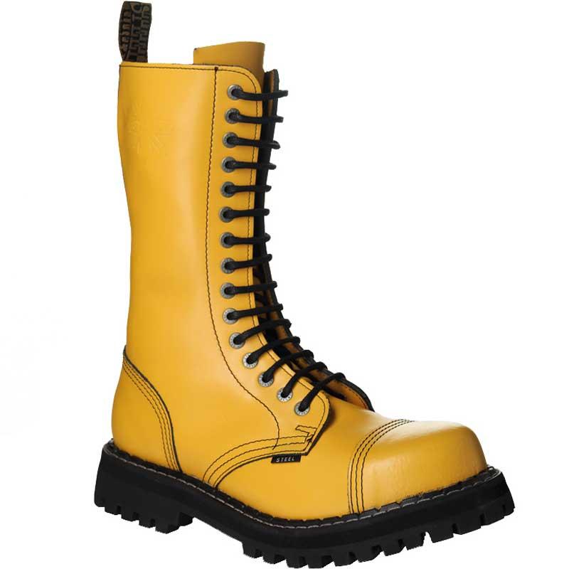 aa8d34710 Chaussures coquées jaunes 15 trous