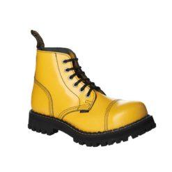 Chaussures coquées jaunes 6 trous