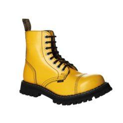 Chaussures coquées jaunes 8 trous