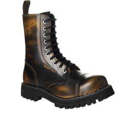 Chaussures coquées jaunes noires 10 trous