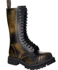Chaussures coquées jaunes noires 15 trous