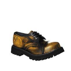 Chaussures coquées jaunes noires