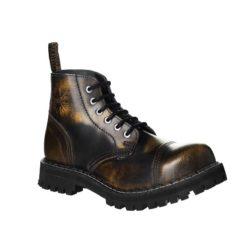 Chaussures coquées jaunes noires 6 trous