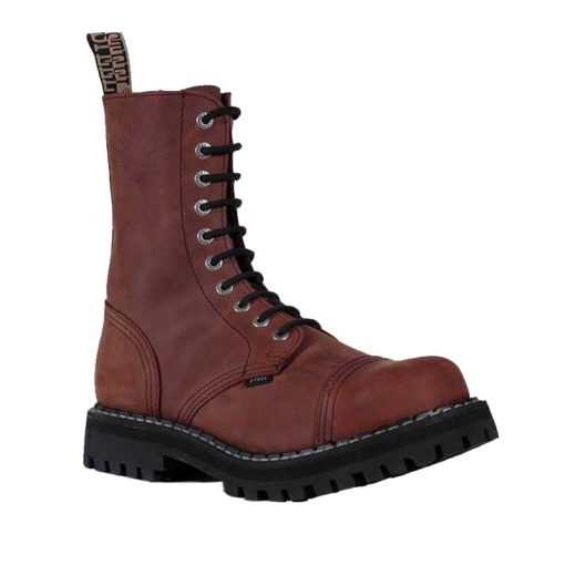 Chaussures coquées marrons 10 trous