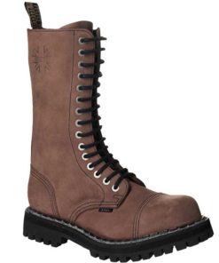 Chaussures coquées marron 15 trous