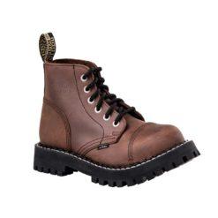 Chaussures coquées marron 6 trous
