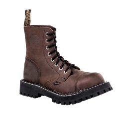 Chaussures coquées marrons 8 trous