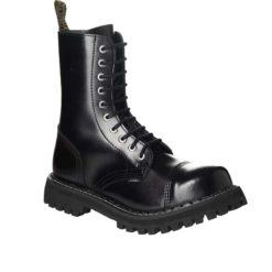 Chaussures coquées noires 10 trous