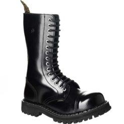 Chaussures coquées noires 15 trous