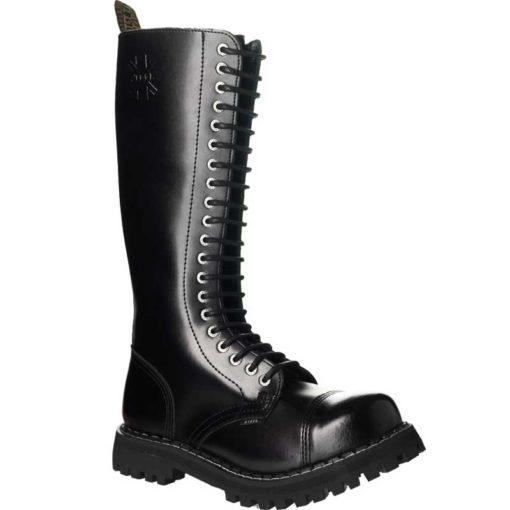 Chaussures montantes coquées noires 20 trous