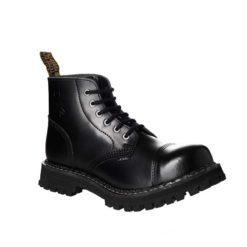 Chaussures coquées noires 6 trous