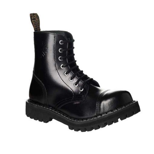 Chaussures coquées noires 8 trous