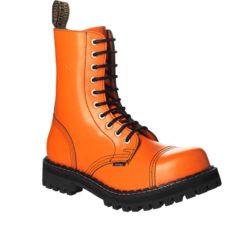 Chaussures coquées oranges 10 trous